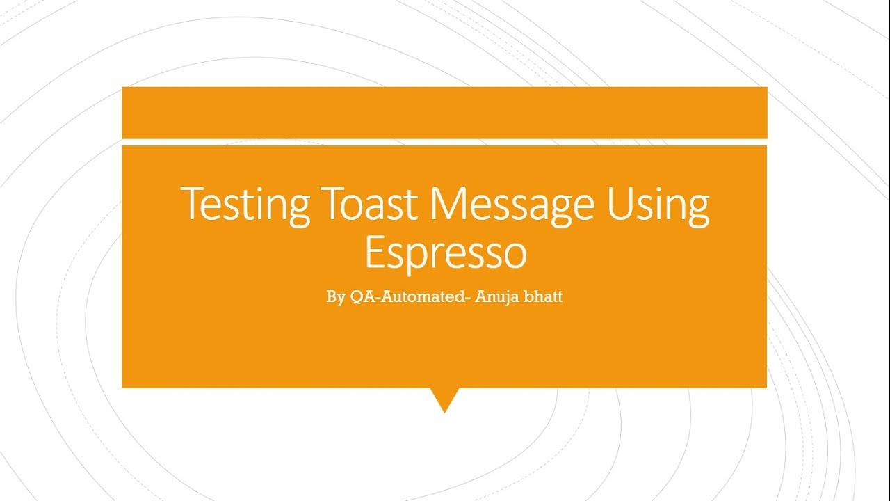 How to test toast message using Android Espresso