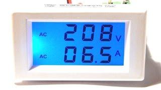 Обзор и подключение цифрового вольтамперметра AC 300v 100a + трансформатор тока digital ammeter