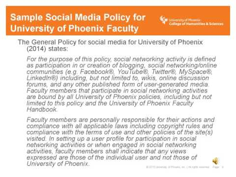 Examining Higher Education Social Media Policies and Best Practices
