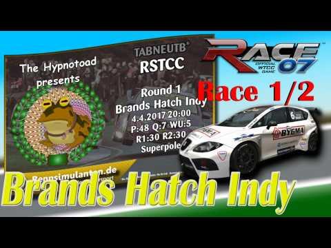 RACE 07  🏁 | Race 1/2 | SEAT Leon @ Brands Hatch Indy |  RennSimulanten.de | Online Race 04.04.2017