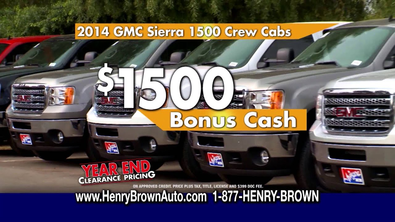 Henry Brown Buick & GMC - Year-End Clearance pricing GMC ...