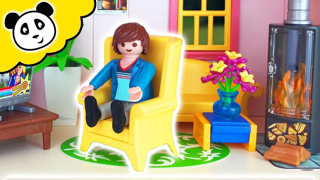 Playmobil en espa ol casa de mu ecas sala de estar youtube - Gran casa de munecas playmobil ...