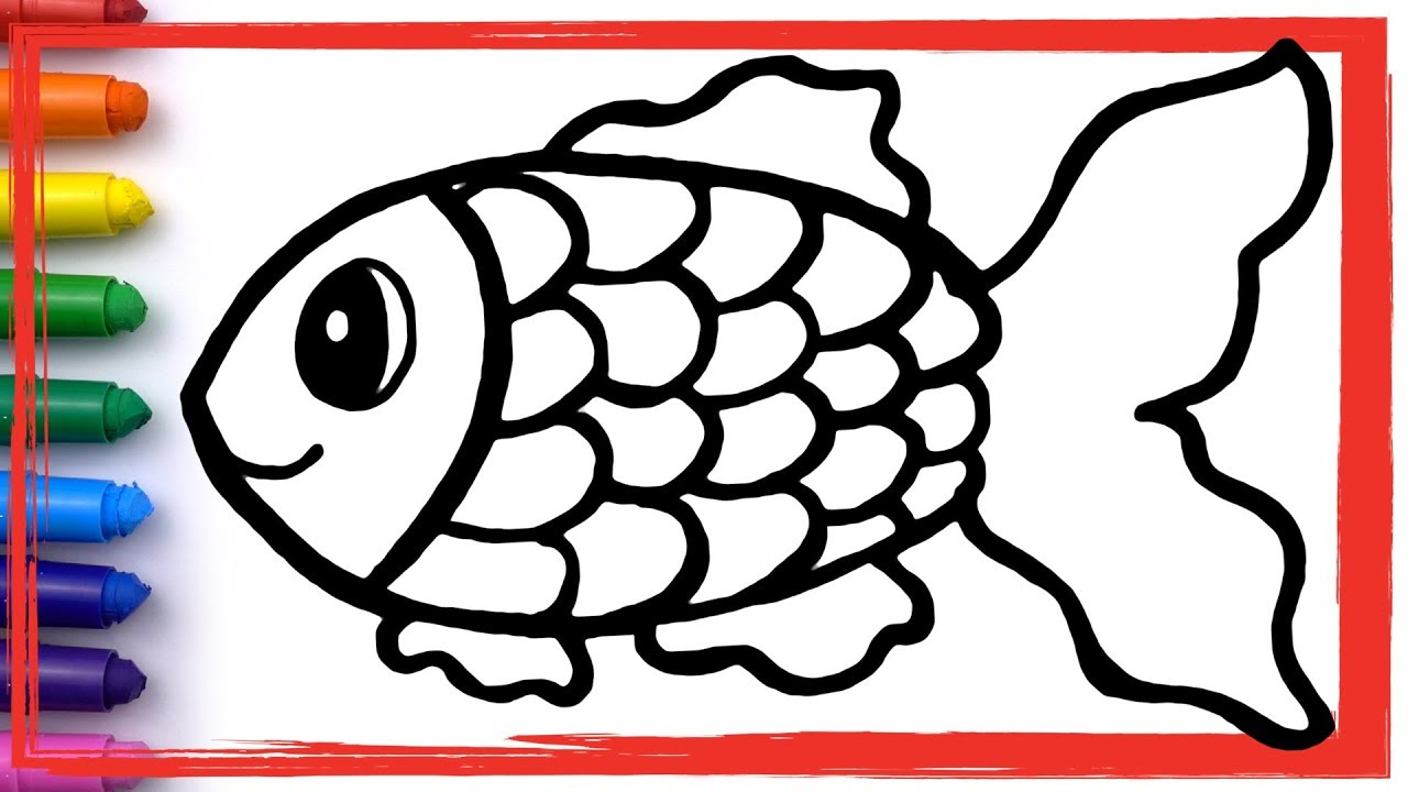 Rainbow Fish and fish tank Drawing and Coloring Pages ...