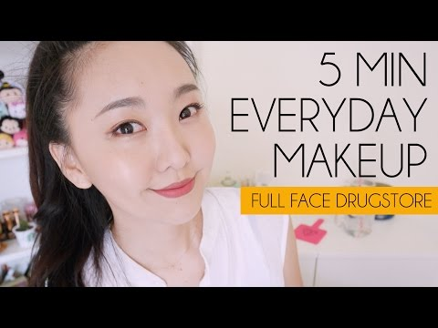 全開�!! 五��快����容 Full face drugstore everyday makeup  l  Hello Catie