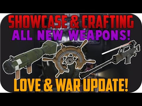 TF2: Crafting & Showcase of ALL NEW WEAPONS! | Love & War update!