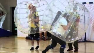 Bumper Ball Ninja Lublin - otwarta impreza bubble football / soccer 2015 mecz1