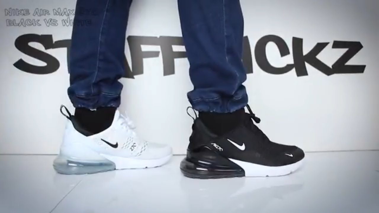 Nike Air Max 270 Black Vs White On Feet Comparison Youtube