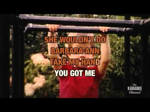 """Barbara Ann in the Style of """"The Beach Boys"""" with lyrics (no lead vocal)"""