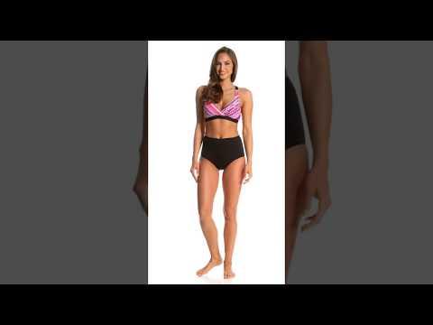 4223f7b7844f4 Coco Reef Contours Keepsake Garnet Princess Seam High Waist Bikini Bottom    SwimOutlet.com - YouTube
