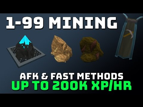 1-99 Mining Guide [Runescape 3] AFK & Fast Methods