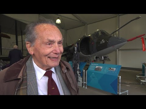 Forces TV Tom Lecky-Thompson Reunited with Harrier XV741