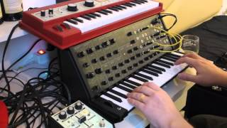 KORG ms-20 mini jamming vs MicroKorg XL - its groovy (or something)