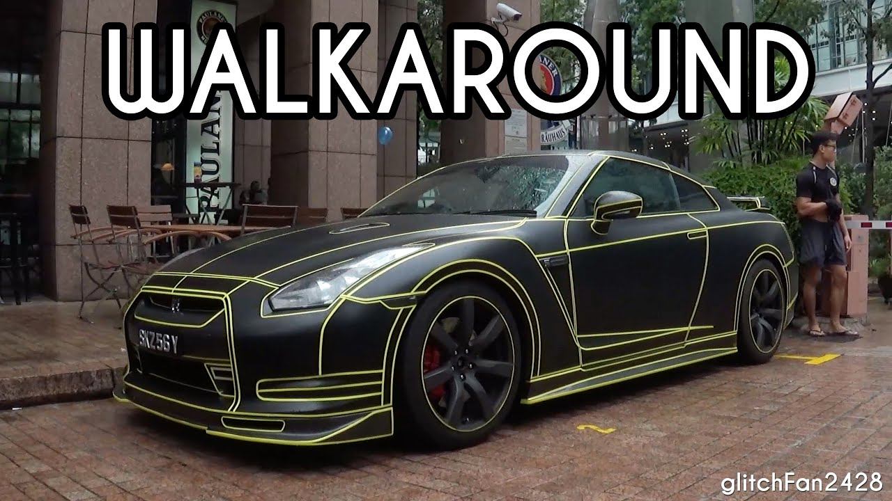 Tron Nissan R35 GTR - Walkaround - YouTube