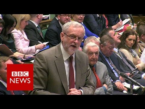 Cameron and Corbyn trade blows on taxes - BBC News