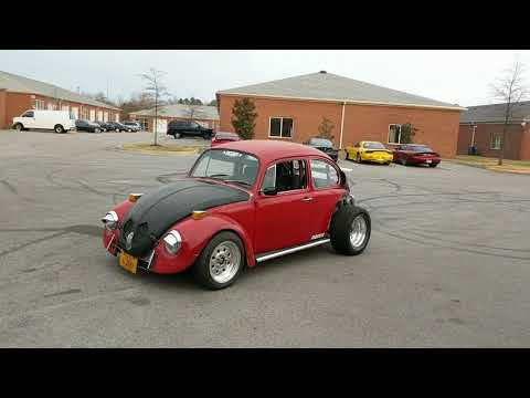 Insanely loud rotary VW beetle doing testing launch control