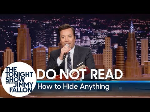 Do Not Read: How to Hide Anything