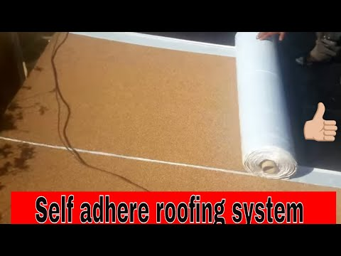 "Self Adhere Roofing for flat roofs , SBS  ""Peel and Stick ruberoid roofing"" , anyone can do it !"