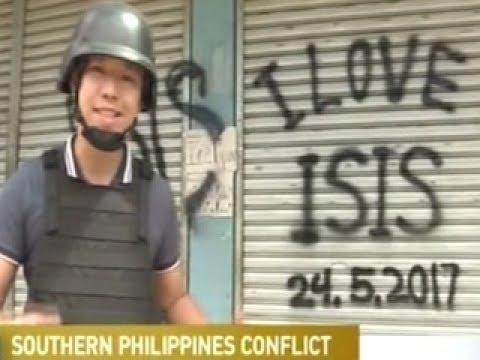 """Philippines Graffiti """"I LOVE I.S.I.S."""""""