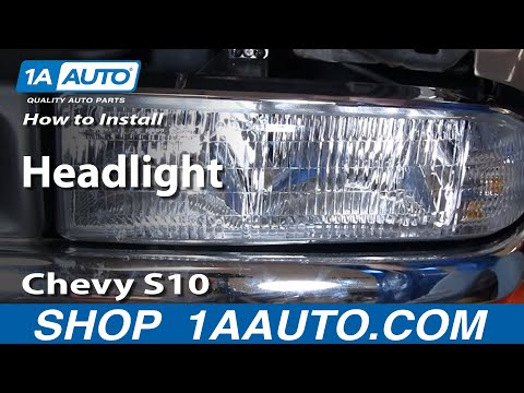 How To Install Replace Headlight Chevy S10 Pickup Truck 98-03 1AAuto