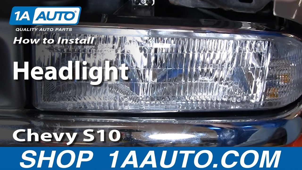 Chevy Trailblazer Wiring Schematic How To Install Replace Headlight Chevy S10 Pickup Truck 98