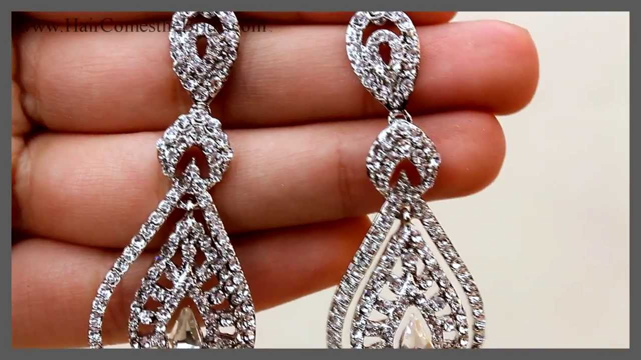 Vintage Bridal Earrings ~ Bridal Hair Accessories And Jewelry By Haires  The Bride