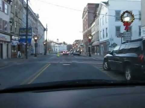 Driving through main Streets in Newton Sussex county New Jersey CHRISTMAS 2011.avi