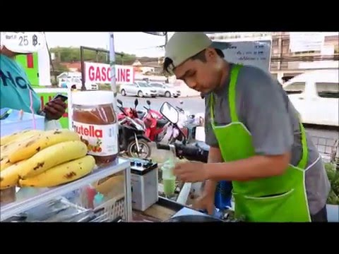 CRISPY MILK CREPE Recipe thai street food market Thailand Asia Travel trip shopping