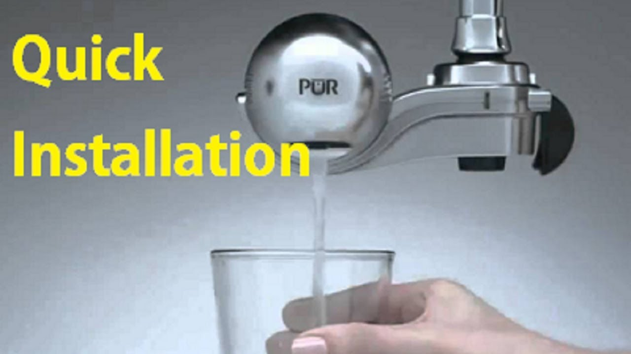 Quick installation PUR Advanced Faucet Filtration System - YouTube