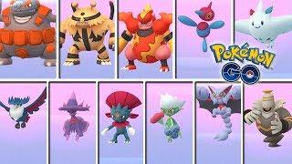 Register in Pokédex the 11 evolutions with Sinnoh stone in Pokémon GO! [Keibron]