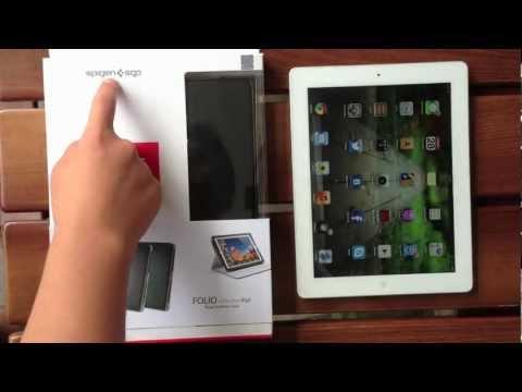 Кожаный чехол Spigen SGP Leather Case Folio Series для New IPad/iPad 2