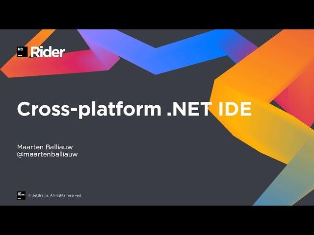 JetBrains Rider 2019 1 2 - Phần mềm phát triển platform trên Windows