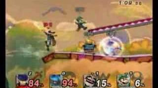 Super Smash Bros. Brawl – Ike vs. Lucario vs. Wario vs. Luigi