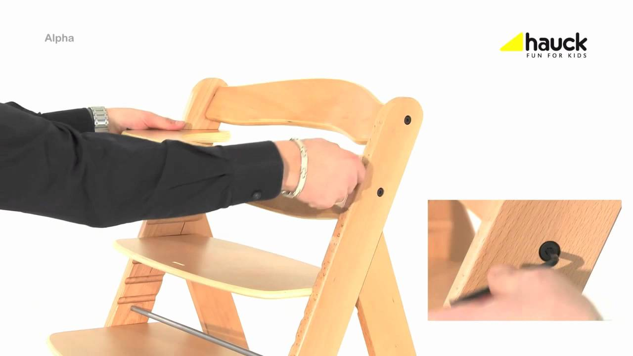 hauck alpha wooden highchair video review online4baby youtube. Black Bedroom Furniture Sets. Home Design Ideas