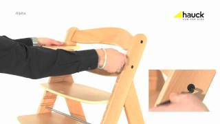 Hauck Alpha Wooden Highchair Video Review - Online4baby