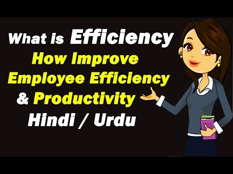 Efficiency | How Improve Employee Efficiency | How Efficiency Increase Productivity | Urdu / Hindi