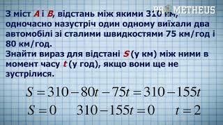 ЗНО Математика ( Алгебра ) Задачі на рух