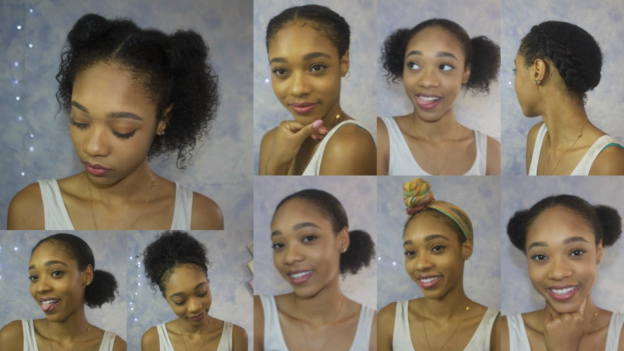 quick and easy natural hair styles for everyday | no heat