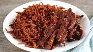 2 cách làm KHÔ HEO - Vietnamese PORK JERKY recipe