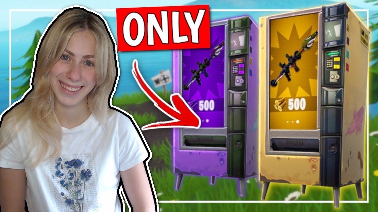 Vending Machine *ONLY * Challenge (FORTNITE DANSK)