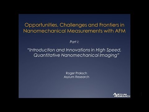 Introduction and Innovations in High Speed Quantitative Nanomechanical Imaging