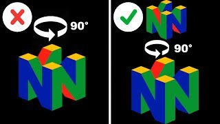 Over 1/3 of 3D Ninтendo 64 Logos are WRONG When Spinning