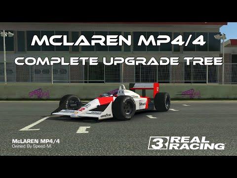 Real Racing 3 McLaren MP4/4 Complete Upgrade Tree RR3