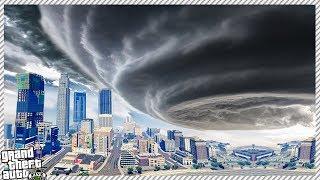 GTA 5 REAL LIFE MOD #21 - MASSIVE HURRICANE HITS THE CITY! (GTA 5 HURRICANE LOS SANTOS UNDER WATER)