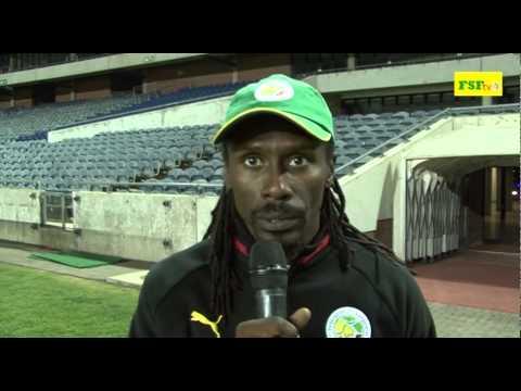 Interview Aliou Cissé, séance d'avant match contre l'Afrique du sud