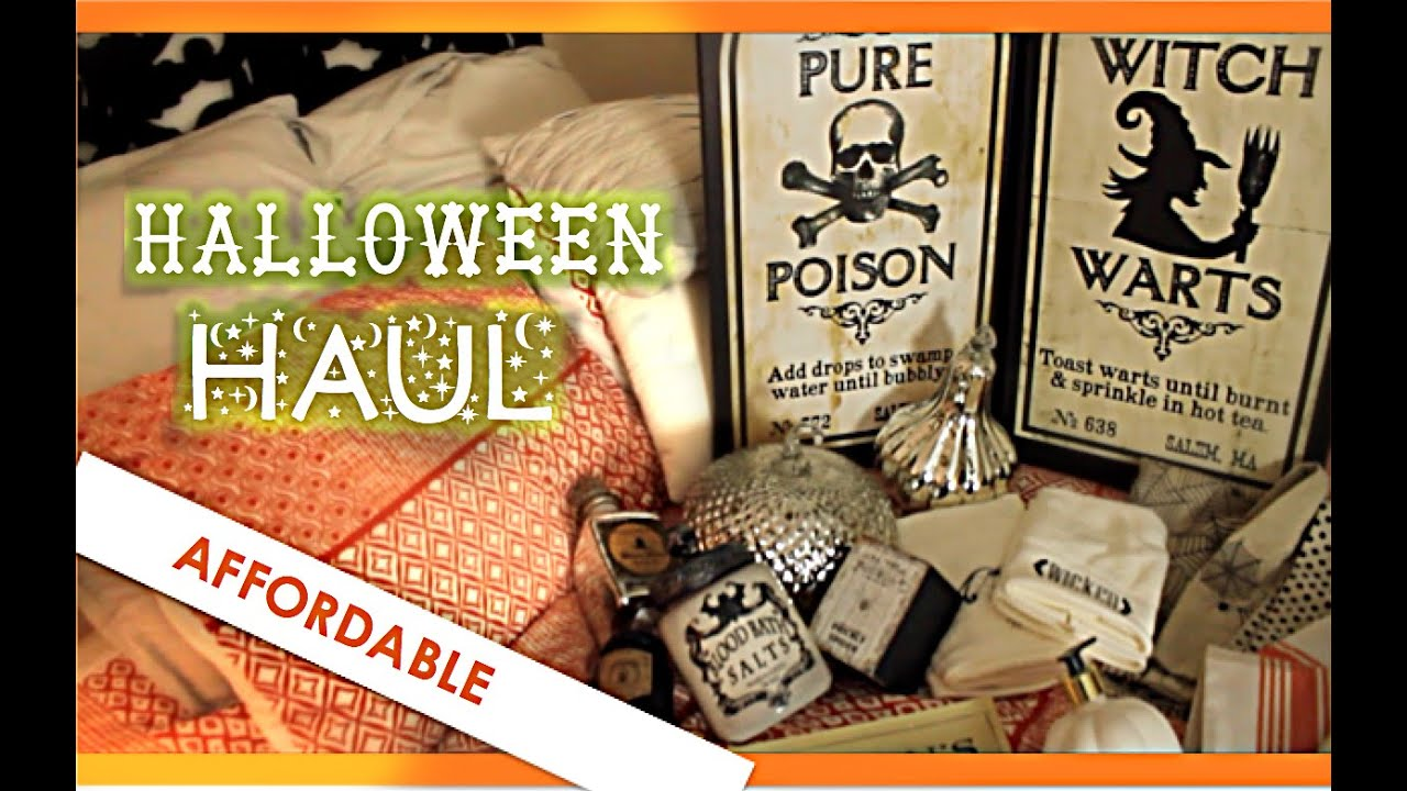 Affordable halloween decor haul home goods target for Affordable home goods