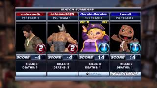 PlayStation All-Stars Battle Royale (PS3) - Ranked Team Matches 1