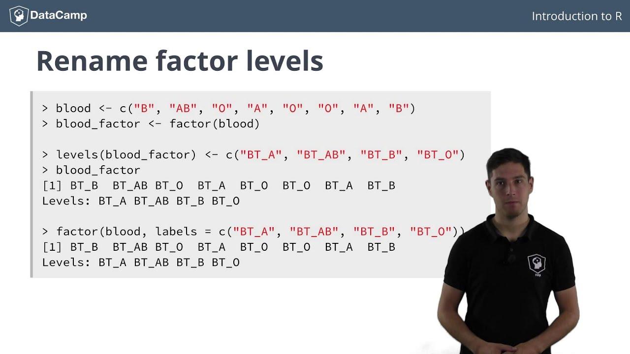 R Tutorial  Using Factors In R