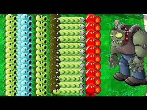 All Plants PvZ Hack vs All Zombie in Plants vs Zombies
