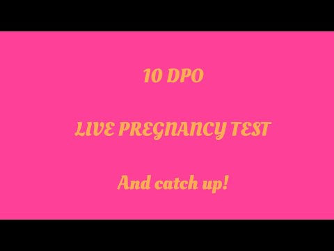 10DPO live pregnancy test. & Chit chat