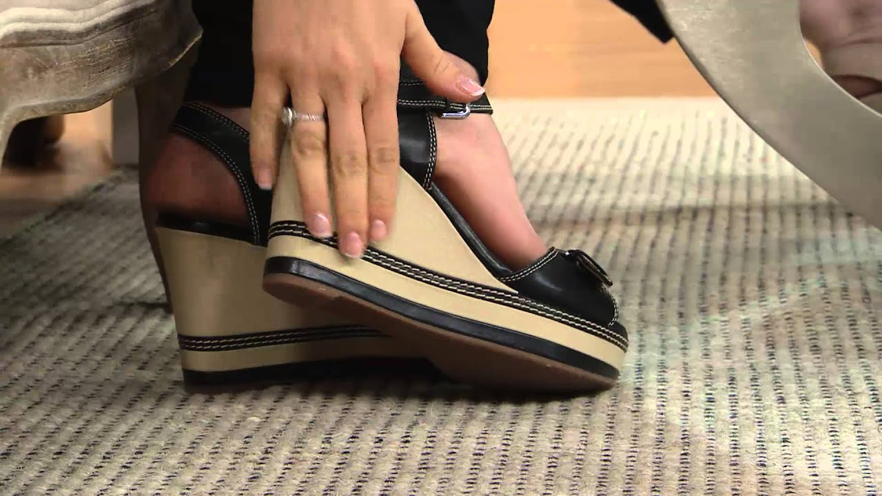 697a8b30a167c Clarks Leather Wedges - Zia Castle with Jane Treacy - YouTube